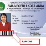 Contoh Kartu Pelajar Barcode