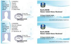 Contoh Desain Kartu NISN