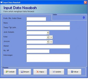Input Data Nasabah