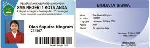 Download Contoh Desain Kartu Siswa Terbaru