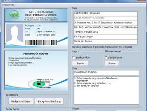 Download Software Kartu Anggota Perpustakaan Sekolah
