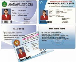Contoh Kartu Pelajar SMP Siap Download